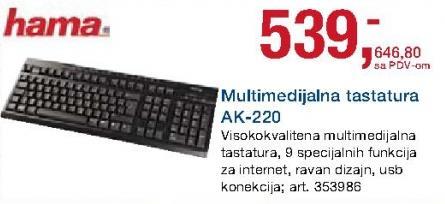 Tastatura multimedijalna Ak-220