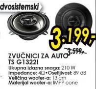 Zvučnici za auto Ts G1322l