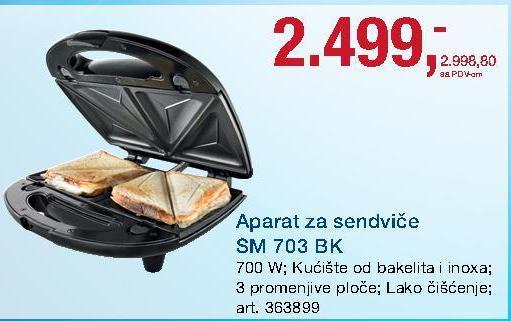 Aparat za sendviče SM 703BK