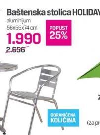 Baštenska stolica Holiday