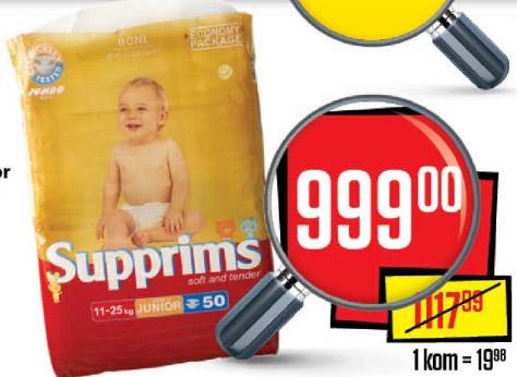 Supprims Junior pelene za bebe