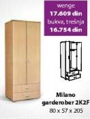 Garderober Milano 2K2F Wenge
