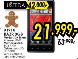 Mobilni telefon XT910 Razr 16GB