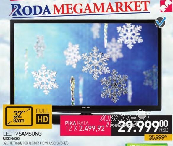 "Televizor LED 32"" Ue32h4000"