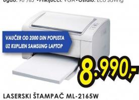 Laserski štampač ML 2165W +Vaučer 0d 2000 dinara na kupljen Samsung štampač