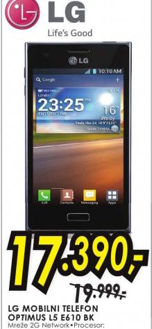 Mobilni telefon Optimus L5 E610 BK