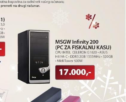 Desktop računar MSGW Infinity 200