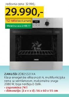 Ugradna Rerna Zob 25321 XA
