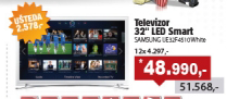 "TV 32"" LED Smart UE32F4510 White"