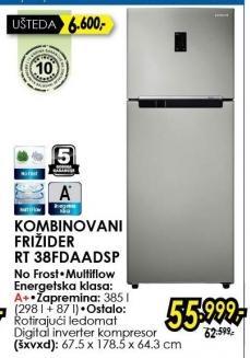 Kombinovani frižider RT38FDAADSP