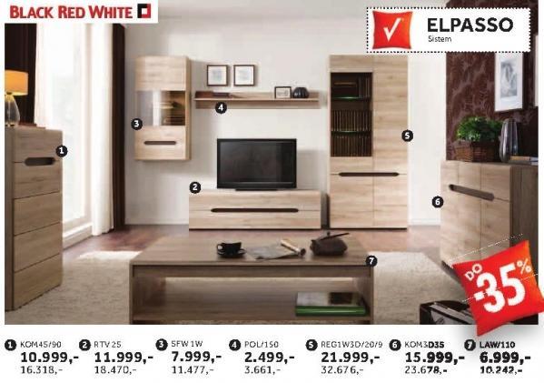 Komoda Kom4s/90 Elpasso Black Red White