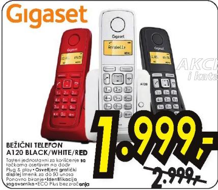 Bežični telefon A120 BLACK/WHITE/RED