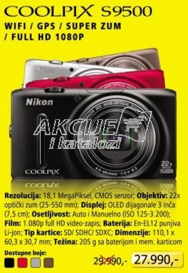 Digitalni fotoaparat Coolpix S9500