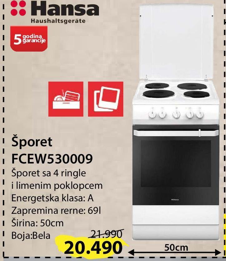 Šporet FCEW5300090