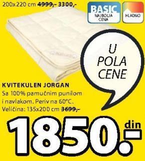 Jorgan Kvitekulen 200x220cm