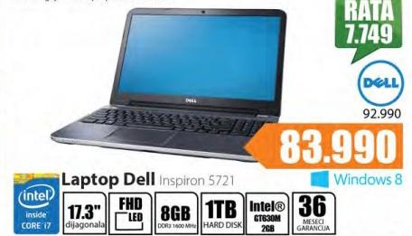 Laptop Inspirion 5721