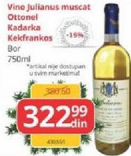 Belo vino Muskat Ottonel
