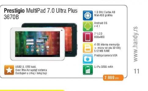 Tablet  Multipad 3670B