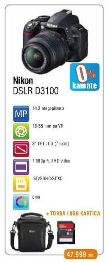 Digitalni fotoaparat DSLR D3100