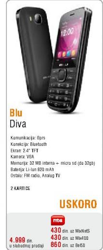 Mobilni telefon Blu, Diva
