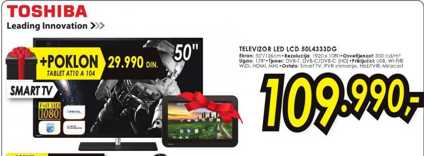 Televizor LED LCD 50L4333DG