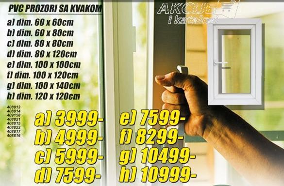 Prozor PVC sa kvakom 60x60cm