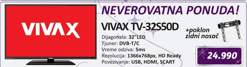 Televizor LED LCD TV 32S50D