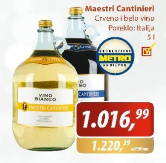 Crno vino Maestri Cantinieri