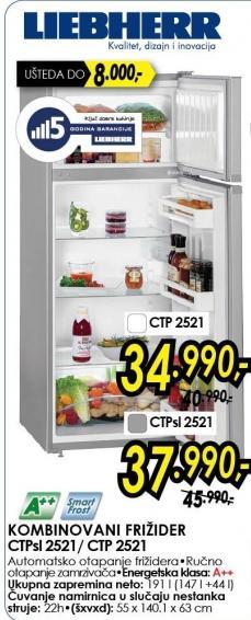 Kombinovani Frižider CTP2521