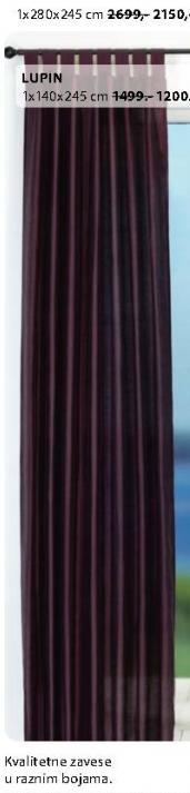 Zavesa Lupin 1x280x245cm