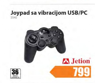 Joypad  USB/PC 5540, Jetion