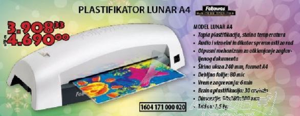 Plastifikator Lunar A4