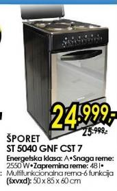 Šporet ST 5040 GNF CST 7