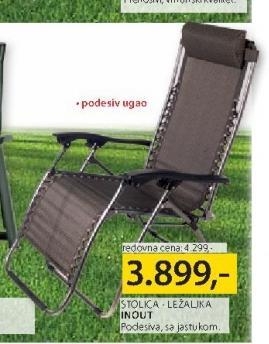 Baštenski stolica ležaljka Inout