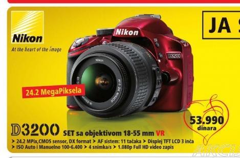 Digitalni SLR fotoaparat D3200 18-55VR + 55-200VR