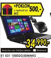 Laptop Acer E1-531-10002G50MNKS+Poklon miš