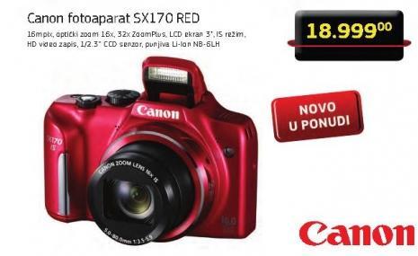 Digitalni fotoaparat Sx170 Red