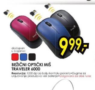 Bežični optički miš Traveler 6000