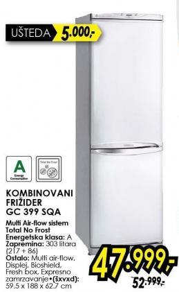 Kombinovani frižider Gc 399 Sqa