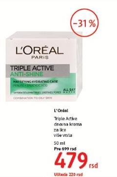 Krema za lice Triple active