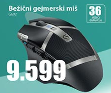 Bežični miš gejmerski G602