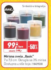 Mirisna sveća Basic