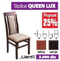 Trpezarijska stolica Queen LUX