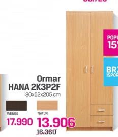 Ormar Hana 2K3P2F, Natur