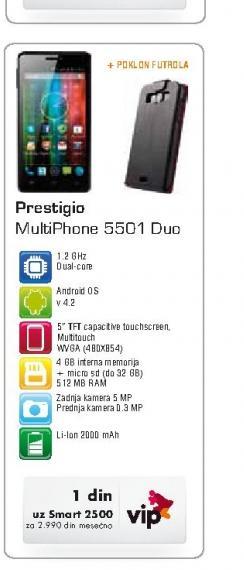 Mobilni telefon 5501 DUO