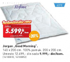 Jorgan Good Morning 140x200 cm