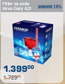 Filter za vodu akva gary 4,2l