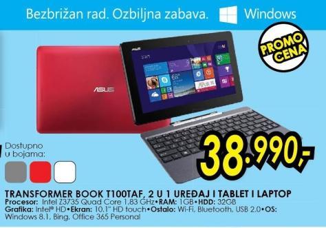 Laptop Transformer Book T100taf