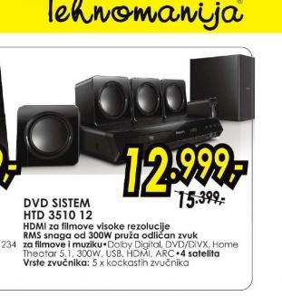 DVD sistem HTD 3510/12