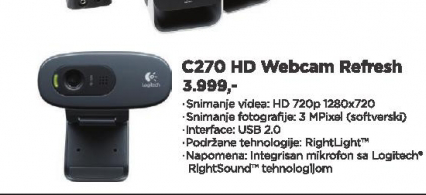 Web kamera C270HD REFRESH